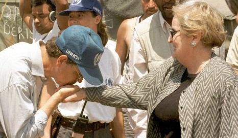 توهین مادلین آلبرایت به رهبر انقلاب و پاسخ ایران/اولین وزیر زن آمریکایی اصلاح طلب از آب درآمد + تصاویر