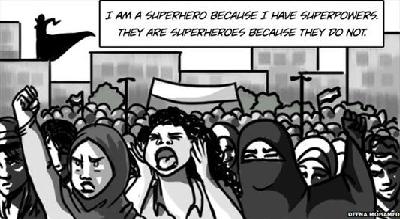 اولین سوپر زن با حجاب، چه کارها که نمی کند!+عکس