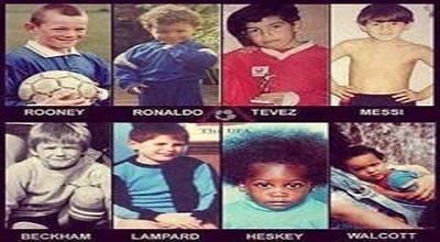 بازیکنان فوتبال در کودکی چه شکلی بودند؟