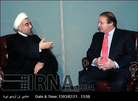 President Rouhani confers with Pakistani PM