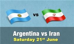 تصاویر رختکن ایران و آرژانتین منتشر شد/ رونمایی از تابلو فرش اهدایی به مسی