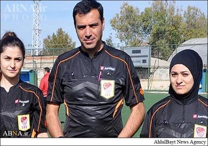 اولین داور محجبه در فوتبال ترکیه +عکس