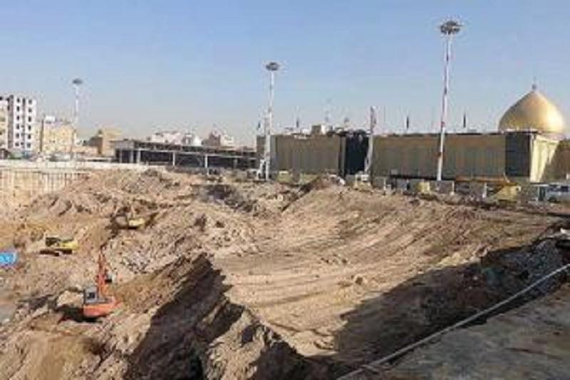 مشارکت در ساخت صحن حضرت زهرا (س)