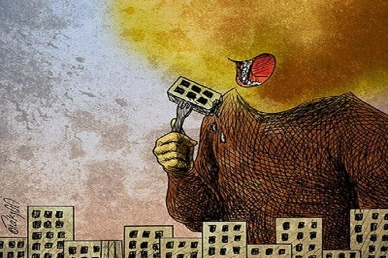 هجوم گرد و خاک به شهرها!/گرافیک