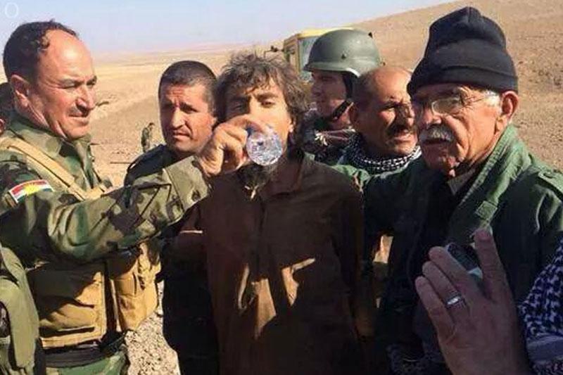 داعشی اسیر شده توسط پیشمرگه