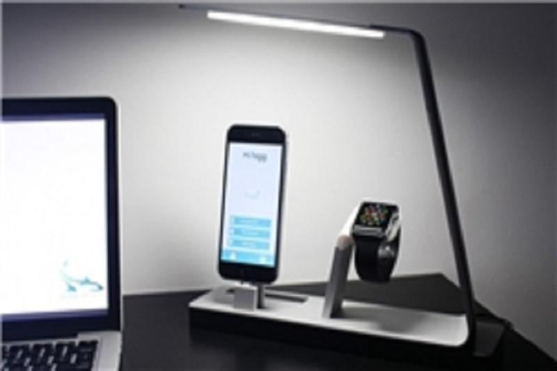 شارژ آیفون و ساعت اپل با لامپ ال ای دی