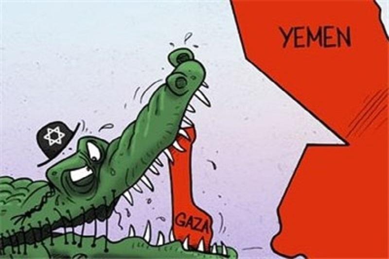 لقمه بزرگتر از دهان عربستان/کاریکاتور