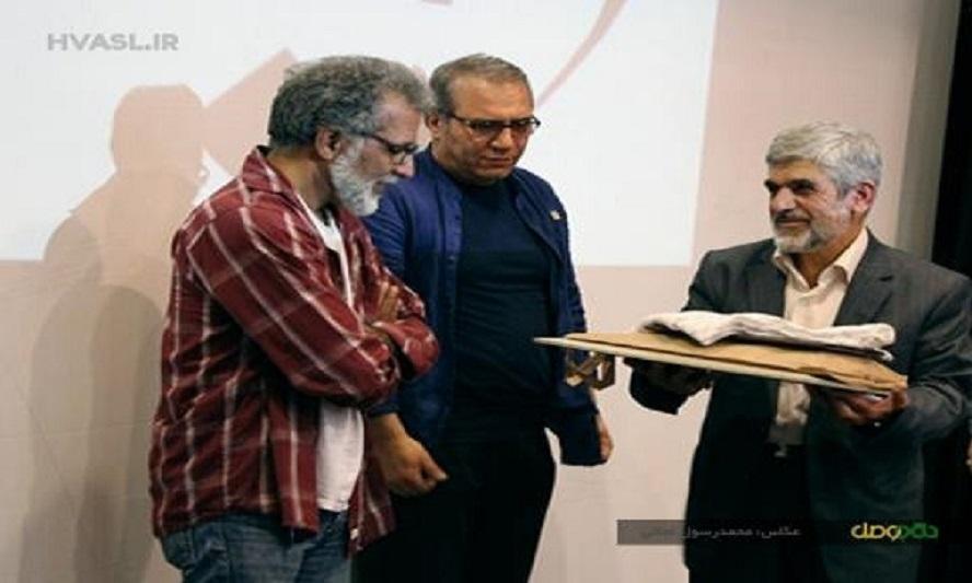 عکس:تقدیر پدر شهید هستهای از سازندگان «روباه»