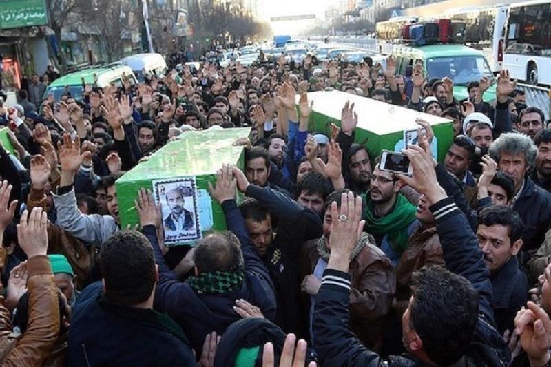 تشییع پیکر پنج شهید مدافع حرم در مشهد