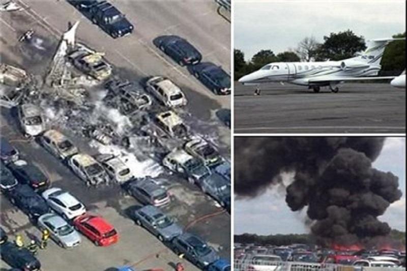 سقوط هواپیمای متعلق به خانواده بنلادن در انگلیس+عکس